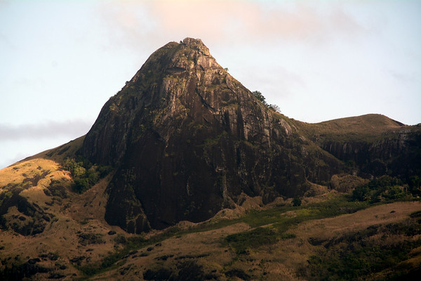Mountain on the island