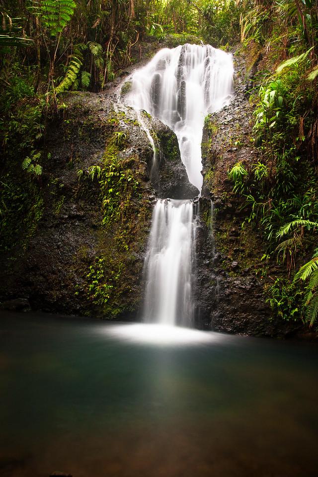 One of the many beautiful waterfalls in Fiji.
