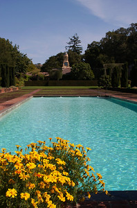 View across the swimming pool