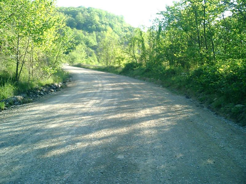 KY gravel coal haul road