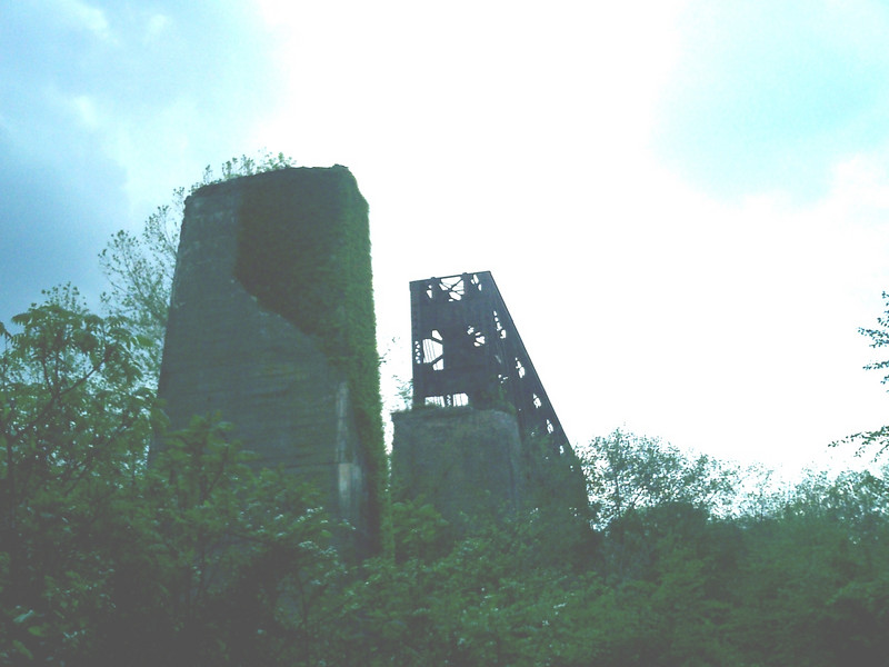 Abandoned RR bridge over the New River, north of Wartburg TN