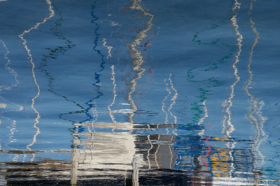 Some reflections of sailboats at Watkins Glen