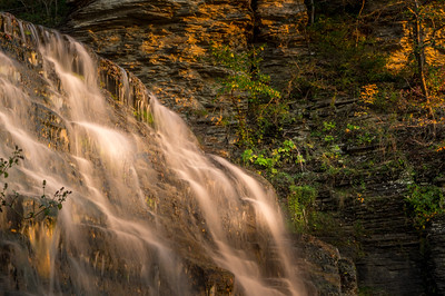 Hector falls in the evening light.  Very close to our B&B, Burdett House.