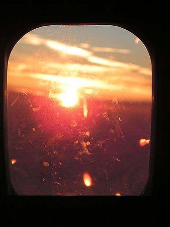 Sunrise somewhere over the Atlantic