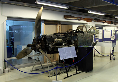 Aviation museum - remains of WW2 German Messerschmitt Bf 109 G-2.
