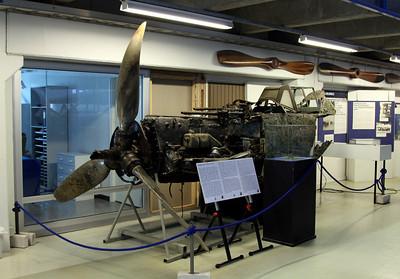 Aviation museum - remains of WW2 German Messerschmitt Bf 109 G-2.