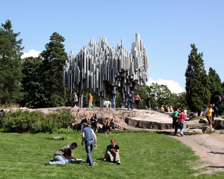 Sibelius memorial (Finnish compser).