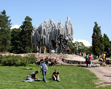 Sibelius memorial (Finnish compser).