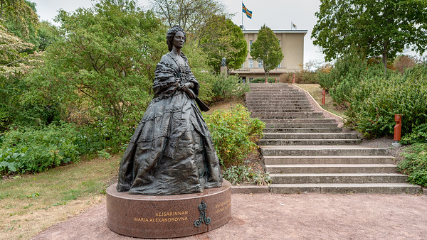 Åland July 2018,Grand Duchess Maria Alexandrovna near City Hall.