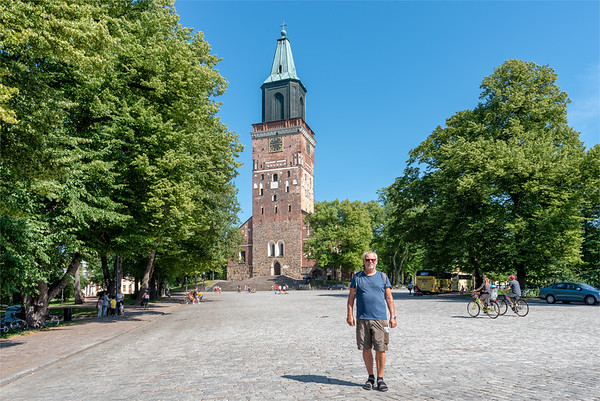 Finland, Turku 2018, me at Turku Cathedral.