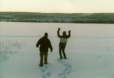 High noon -- Lappland, Finland