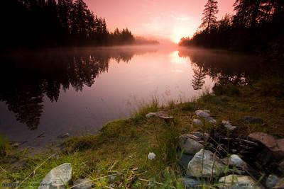 Rose dawn. Suomussalmi, Oulu. Finland.