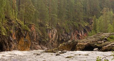 Oulankajoki. Oulanka National Park. Finland.