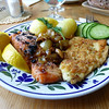 Meal at Alan's Cafe, Hanko. Finland