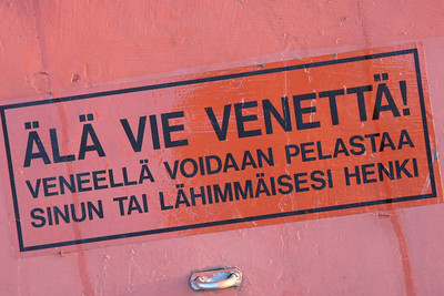Do not steal the boat