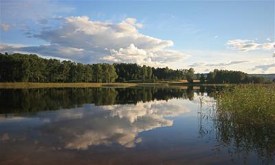Siljan-meer, Siljansnås, Dalarna, Zweden.