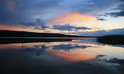 Borgsjö-meer, Härjedalen, Zweden.