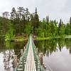 Hängebrücke über den Kitkajoki