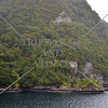 Scenic view along the Breaksea Sound in Fiordland National Park, New Zealand.