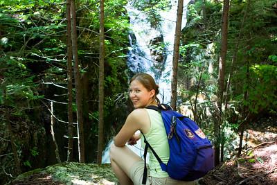 Abby on the Mt. Avalon Trail.