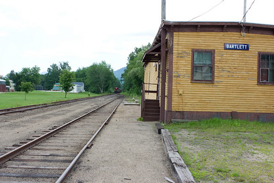 On the way back we encountered the Notch Train and Valley train meeting at Bartlett Depot.