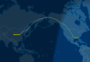 PEK to DFW over Russia and Alaska