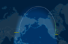 Polar Routing from DFW to PEK