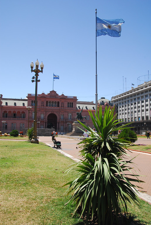 Pink house and Plaza De Mayo in BA
