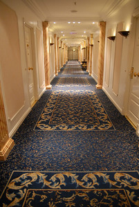 The Alvear Palace Hotel hallways in B.A.