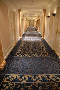 The Alvear Palace Hotel hallways in B.A.