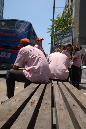 workers on bench in BA