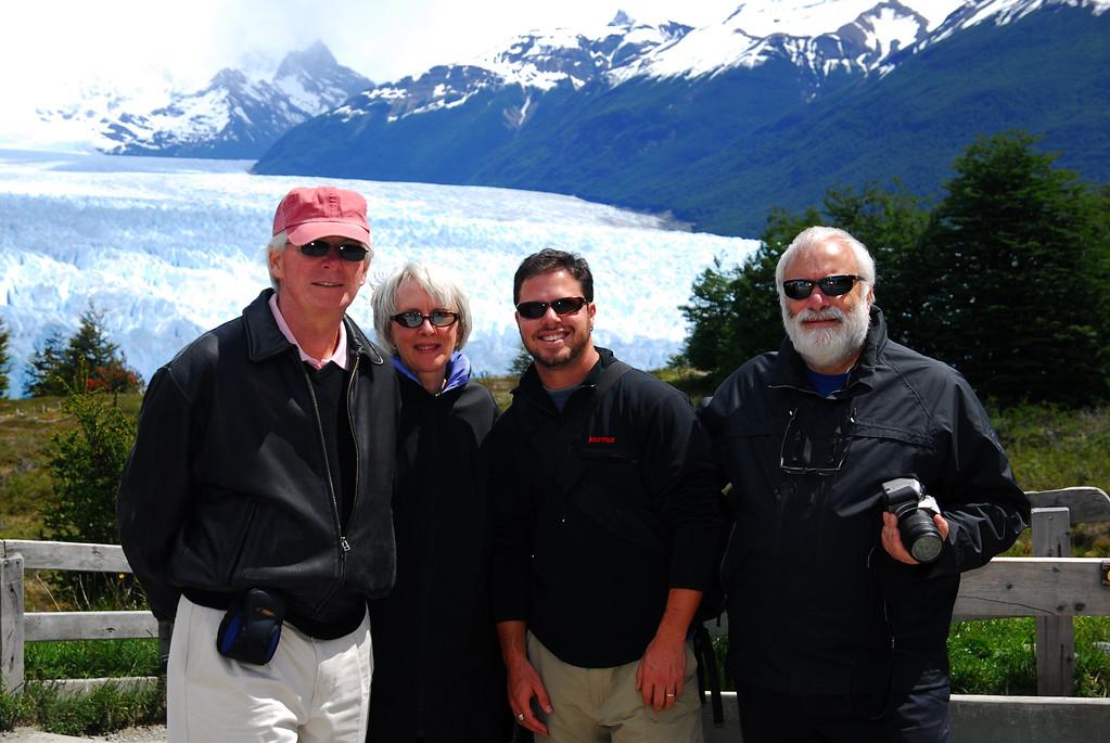 Our group at the Perito Moreno Glacier in Patagonia