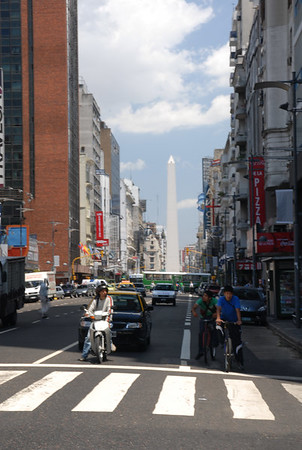 Buenos Aires streets and Obilesk