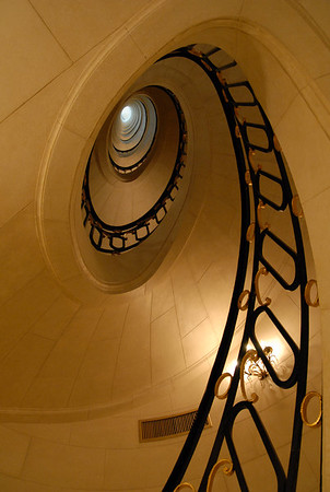 The Alvear Palace Hotel circular stairwell, BA