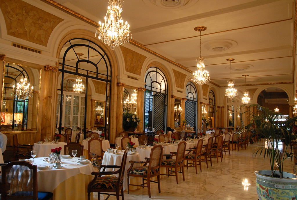 The Alvear Palace Hotel dining area in B.A.