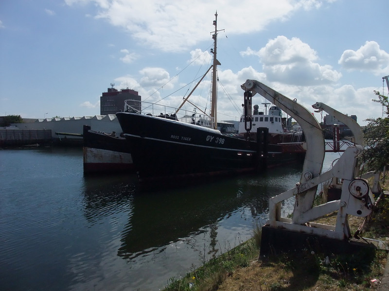 On arrival at the museum, we see the Ross Tiger, an original 1950's North Sea Trawler.