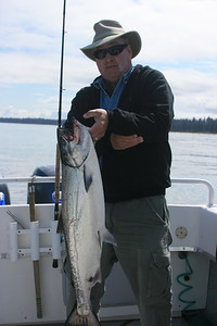 Darold with a Chinook salmon.