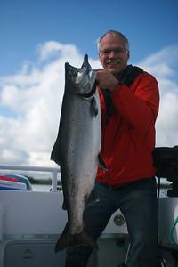 Sheldon with 24# Chinook salmon.