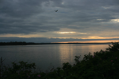 Sunset from the cabin deck.