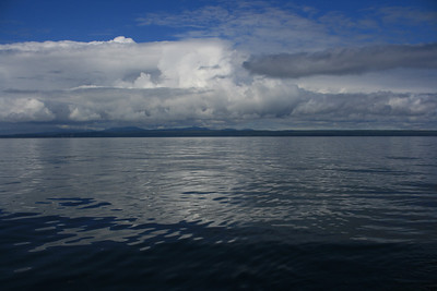 Neat cloud formation on a calm day. Not bad for being on the ocean.