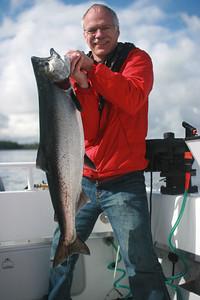 Sheldon with 22# Chinook salmon.