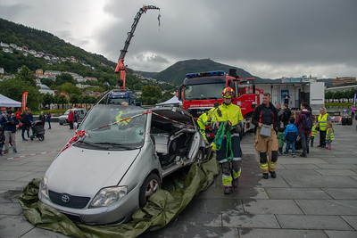 Educational initiative at the Bergen City Centre on not to drink and drive. Bergen, Norway.