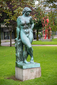 Statues in the park in the City Centre at Bergen, Norway. Bergen, historically called Bjørgvin, is a city as well as municipality in Hordaland on the west coast of Norway.