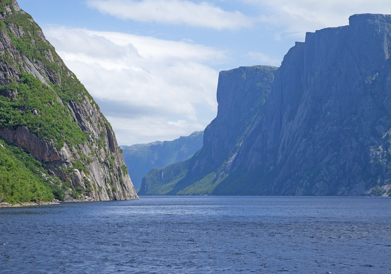 Western Brook Pond Fjord - Plate tecttonics and erosion created this unusual landscape - a World Heritage Site