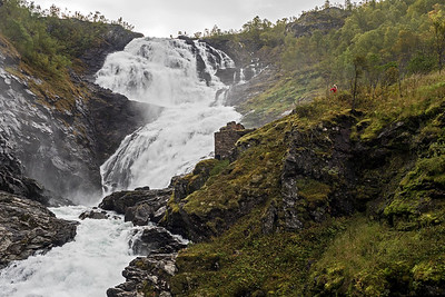 Kjosfossen Waterfall and Huldra dancing to music
