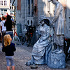Some living statues in a Bruges street