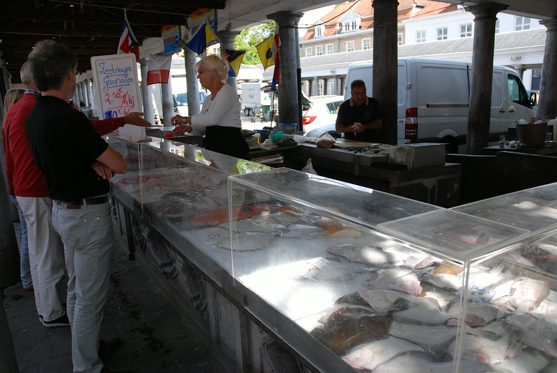 The fish market in Bruges