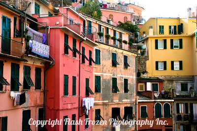 Italy - The Cinque Terre Finished Metallic Emulsion on Canvas
