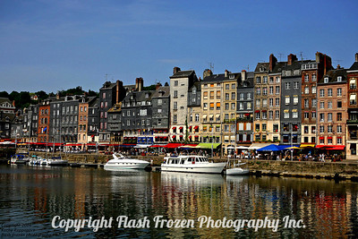 Honfleur France Finished Metallic Emulsion on Canvas