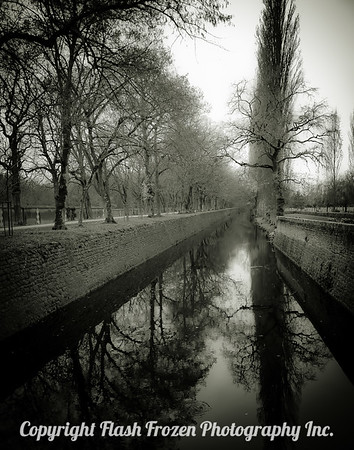 Blois, France - Canal in Winter